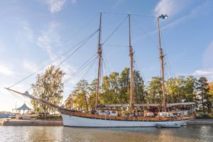 Sailing ship Kathrina in Poroholma