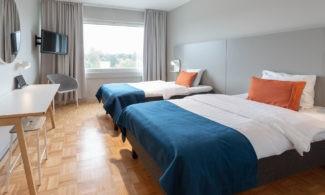 Hotelli Scandicin kahden hengen huone.