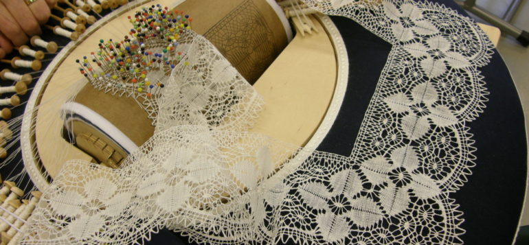 Bobbin lace.