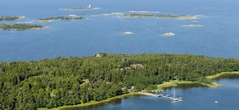 Aerial picture of Rauma archipelago