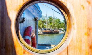 Pyöreä ikkuna purjelaiva Gerdassa