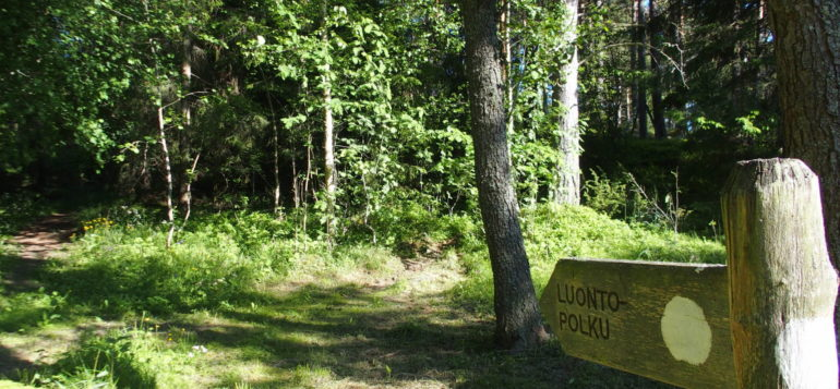 Nature trail in Reksaari