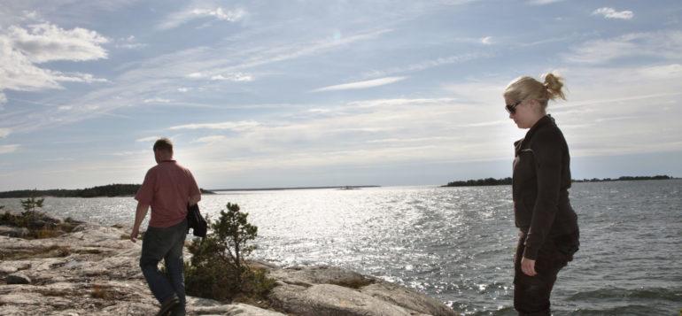 People on the cliffs of Kuuskajaskari