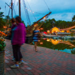 Evening lights and sailing ship Marita in Poroholma