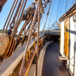 Sailing ship Gerdas ropes