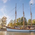 Sailing ship Kathrina in Poroholma harbour