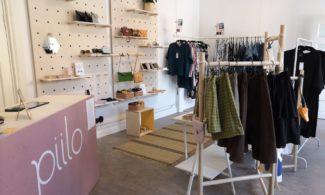 DesignShop Piilon tuotteita, kuten vaatteita ja asusteita.