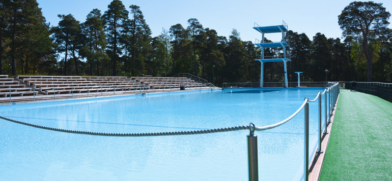Outdoor pool in Rauma.